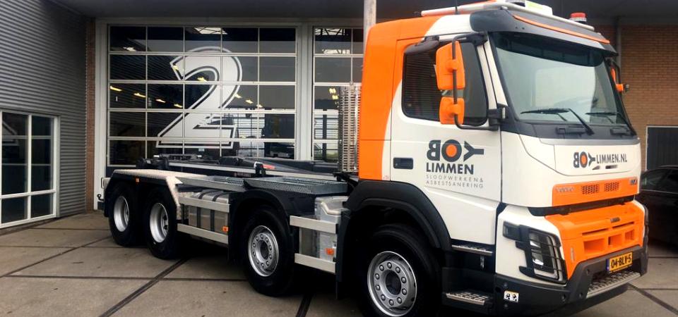 Nieuwe vrachtauto Boy Limmen